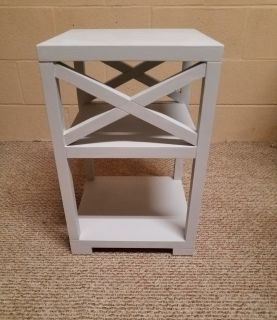 Light grey end table