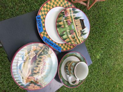 Country Village Dish Set