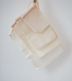 Reusable Cotton Muslin Drawstring Bag/ Jewelry Pouches