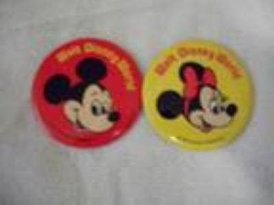 Mickey and Minnie on Seperate Badges
