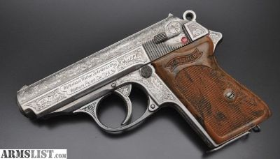 For Sale: Engraved Pre War German Walther PPK 32acp/7.65mm Pistol.