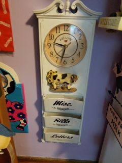 Cow clock and organizer