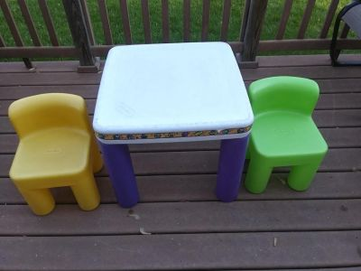 Vintage Little Tikes Table & Chairs Set Child Size Preschool 2-6 Year Daycare