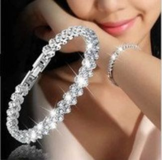 Very Beautiful Bracelet Bangle*Silver Plated Fashion Charm Shiny Crystal