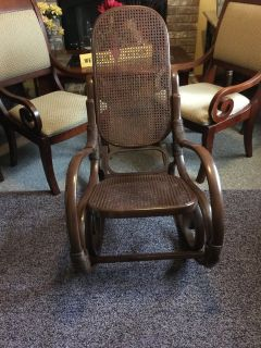 Rduced...Antique rocking chair reconditioned