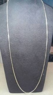 "Thin 14kt gold box link 16"" chain"