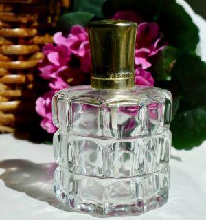 Vintage Pressed Glass Refillable Step Paris Atomizer Perfume Bottle