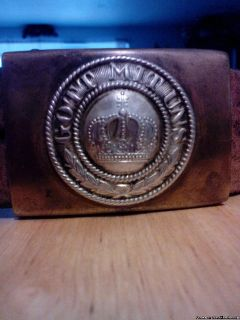 WW1 German belt with buckle, Authentic