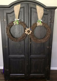 Black rubbed shabby chic armoire Come with your best offer!!