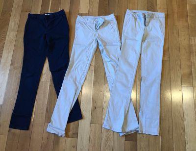Girl s Uniform Pants- 3 pair