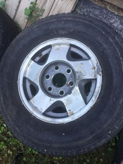 4 Chevy Rims and Tires