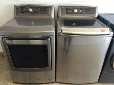 LG Steam HE Washer and Electric Steam Dryer Set