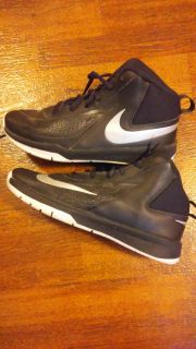 Unisex nike basketball shoes . worn only a few times on court . excellent condition . asking 40$ .