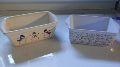 Christmas mini loaf bread pans