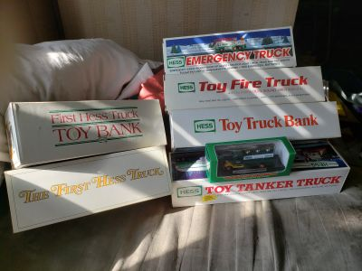 Various Hess trucks and various prices