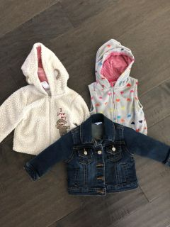 9mo jackets and vest