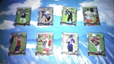 (8) Topps Chrome Rookie Football Cards