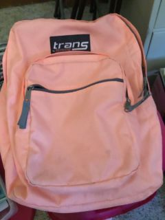 Extra large trans Jan sport Peach colored backpack