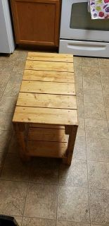 Handmade wooded table