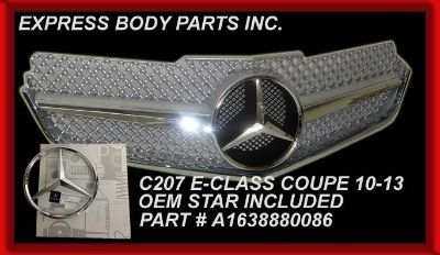 Buy C207 W207 COUPE 2010 2011 2012 E350 E550 GRILLE E-CLASS SILVER NEW 2DR motorcycle in North Hollywood, California, US, for US $164.50