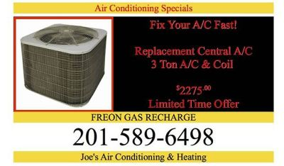 Joes 24/7 Discount Air Conditioning NJ HEATING Furnace & BOILER Replacements / Repairs and Installations FREE REPAIR