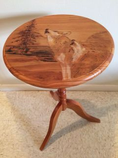 Wolf & tree side table