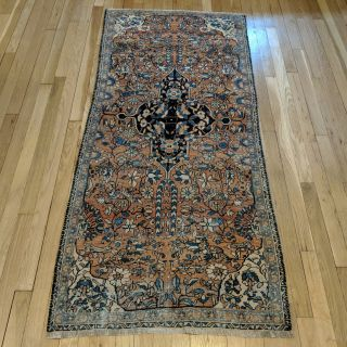 Antique Rug, 2' 8 x 5' 11 Orange Brown Persian Rug