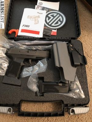 For Sale: BNIB Sig P365 with holster