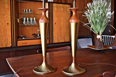 Pair of Mid Century Tony Paul for Westwood Lamps