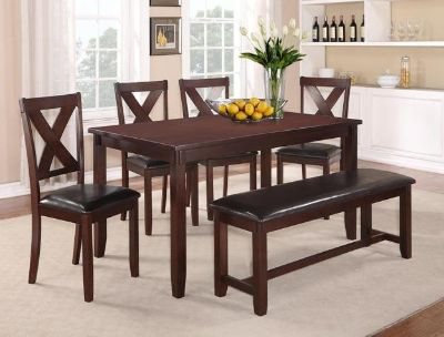 SALE! HARDWOOD CASUAL DINING SETS WITH BENCH! YOUR CHOICE!