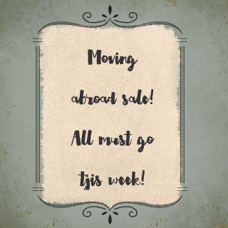 Moving abroad sale! Lots on sale clothes, kitchen, furniture all very good condition