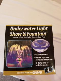 Underwater light show and fountain- barely used