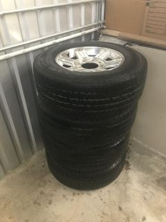 4 Michelin tires with wheels 265/70 R17