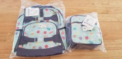 Brand new Pottery Barn Kids Mackenzie large backpack and lunchbox