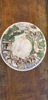 Vintage Hand Painted Colonial Theme Bowl