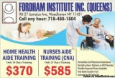 Nurses Aide Training Only days with job placement assistance