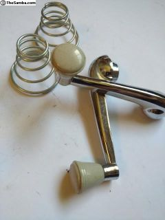 Door handles and buffer springs