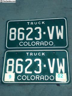 Colorado Truck VW License Plates