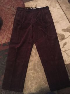 Roundtree & York 38x32 burgundy/brown cord pants - ppu (near old chemstrand & 29) or PU @ the Marcus Pointe Thrift Store (on W st)