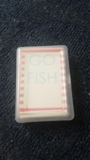 Go fish game with case