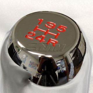 Sell JDM Chrome 5 Speed Type-R Style Manual Aluminum Gear Stick Shift Shifter Knob AA motorcycle in Rowland Heights, California, United States