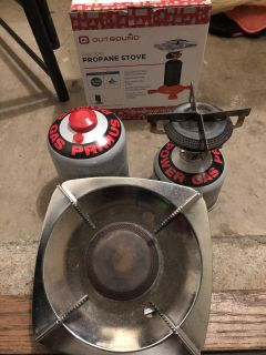 Propane stove with an extra new campingaz