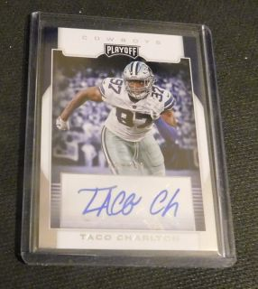 Dallas Cowboys RC Autogrpha TACO CHARLTON