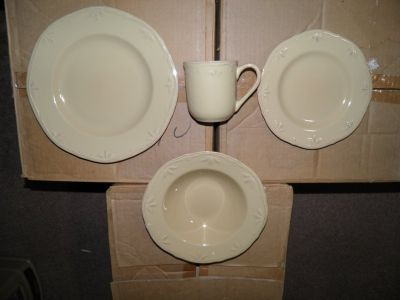 Thomson Pottery Caramel Dinnerware Set 12 Place Setting(48 Pieces)