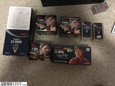 For Sale: 22 WMR Ammo for sale