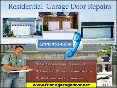 New Garage Door Installation of starting only on $26.95 in Frisco, TX