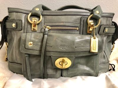 Coach Legacy Collection DBL zip/front pocket Purse
