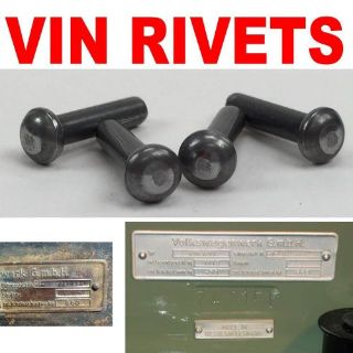 Sell Vin Tag / Name Plate Rivet Set of 4 bert automotive 671 mgb gasser 1932 428 motorcycle in Portland, Oregon, United States, for US $15.00