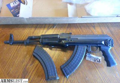 "For Sale: IO Inc. Inter Ordinance AKM 247 AK 47 UnderFolder 7.62x39 LIFETIME WARRANTY USA MADE 16"" Rifle/Pistol Iron Sights (2) 30 rd Mags"