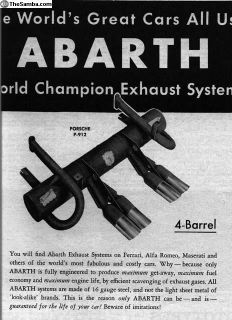 Abarth P-912 4-Barrel Exhaust